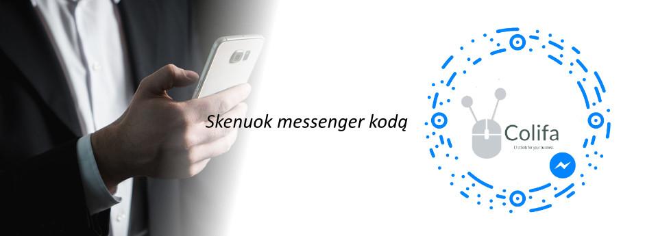 messenger kodas chatbot colifa