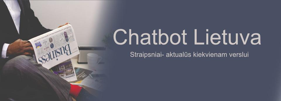 chatbot lietuva - straipsniai verslui