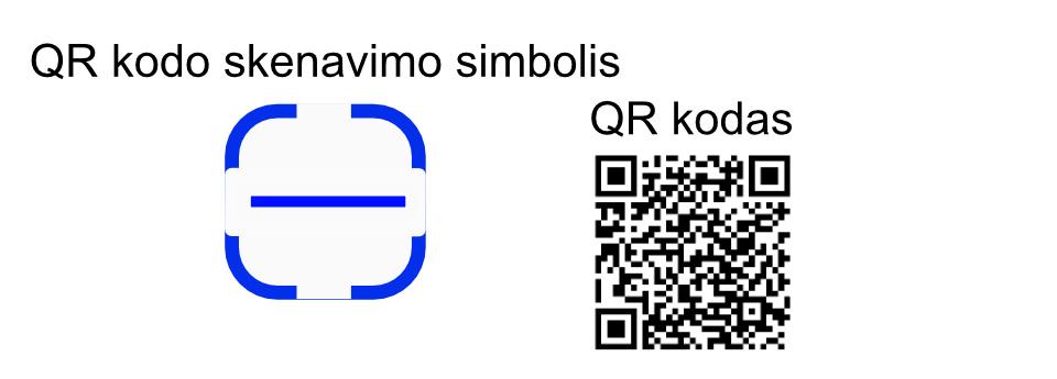 QR kodo skenavimo simbolis