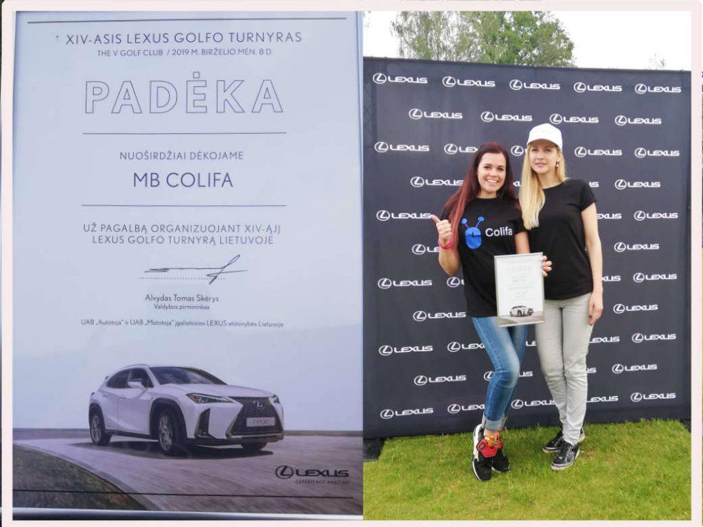 Colifa Lexus diena Lexus Golfo turnyras