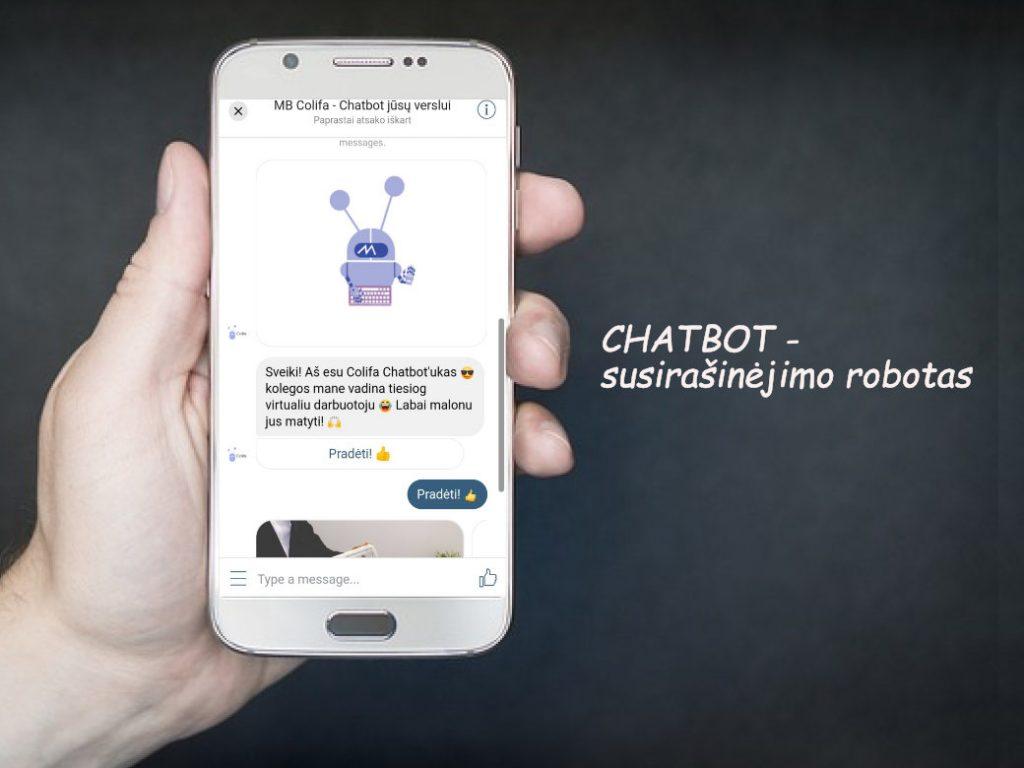 chatbot susirasinejimo robotas