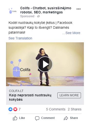 facebook reklama specialistai