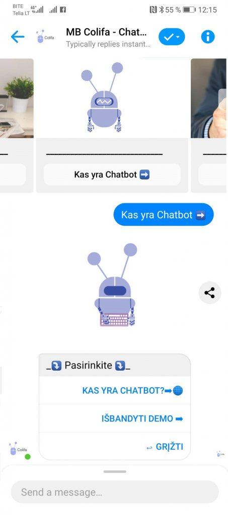 facebook messenger colifa chatbot
