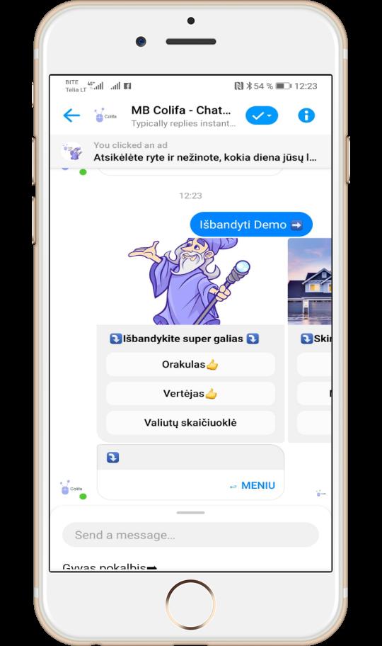 chatbot galimybės