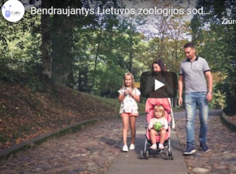 colifa zoologijos sodo video projektas