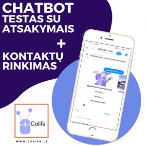 Chatbot Testas su atsakymais