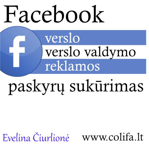 Colifa facebook verslo paskyros sukūrimas mokymai